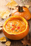 Healthy pumpkin soup Stock Photography