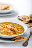 Healthy puree soup with salmon Stock Images