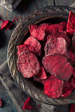 Healthy Purple Baked Beet Chips Royalty Free Stock Photos