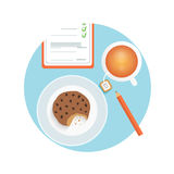 Healthy quick snack with cup of coffee, biscuit Stock Images
