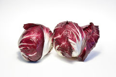 Healthy radicchio salad. Isolated on white background Royalty Free Stock Photography