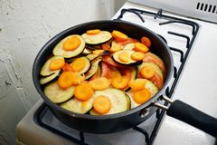 Healthy ratatouille raw royalty free stock image