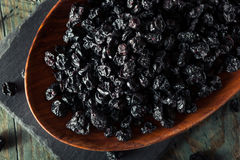 Healthy Raw Dried Blueberries. In a Bowl Stock Image