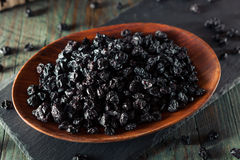 Healthy Raw Dried Blueberries. In a Bowl Royalty Free Stock Photo