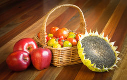 Healthy raw food composition Royalty Free Stock Photography