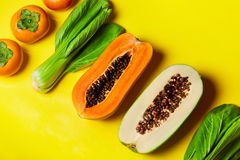 Healthy Raw Organic Food. Composition Of Fruits, Vegetables. Veg Royalty Free Stock Photo