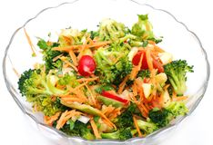 Healthy raw vegan salad Royalty Free Stock Photos