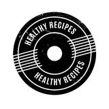 Healthy Recipes rubber stamp Stock Image