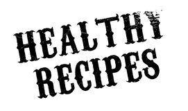 Healthy Recipes rubber stamp Stock Photography