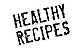 Healthy Recipes rubber stamp Royalty Free Stock Images