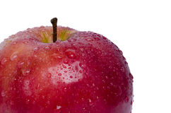 Healthy red apple. With water drop, isolated Royalty Free Stock Photo