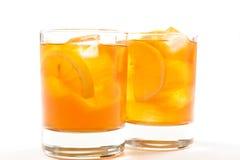 Healthy red bush iced tea stock image