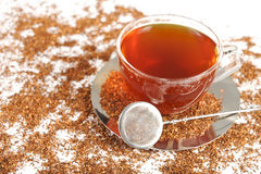 Healthy red bush tea from South Africa Stock Photo