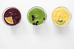 Smoothies fruit juice healthy food Royalty Free Stock Image