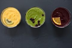 Smoothies fruit juice healthy food Stock Photo