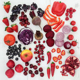 Healthy Red and Purple Super Food Stock Images