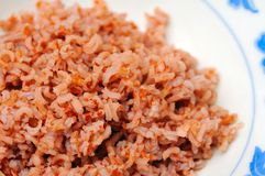 Healthy red unpolished rice Royalty Free Stock Images