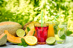 Healthy and refreshing drinks beverages. Are an essential part of a healthy diet Stock Images