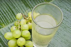 Healthy refreshing grape juice Stock Photos