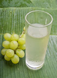 Healthy refreshing grape juice Stock Images
