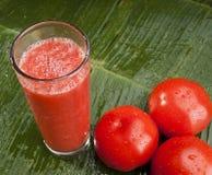 Healthy refreshing tomato juice Stock Image