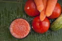 Healthy refreshing vegetable juice Stock Photography