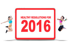 Healthy Resolution for 2016 Concept Royalty Free Stock Images