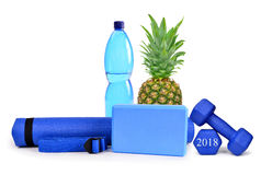 Healthy resolutions for the New Year 2018. Stock Photos