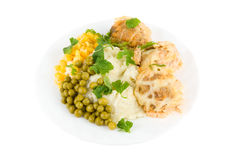 Healthy restaurant food Stock Images