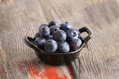 Healthy ripe autumn blueberries Stock Photo