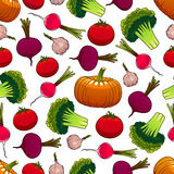 Healthy ripe vegetables seamless pattern Stock Image