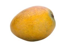 Healthy Ripe Yellow Mango with Speckled Skin Stock Image