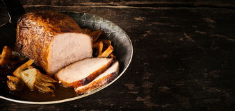 Healthy roast of lean seasoned veal Stock Image