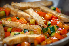 Healthy Roasted Chicken and Veggies Royalty Free Stock Photos