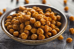 Healthy Roasted Seasoned Chick Peas Royalty Free Stock Photos