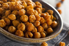 Healthy Roasted Seasoned Chick Peas Royalty Free Stock Images