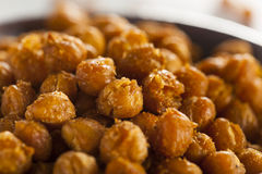 Healthy Roasted Seasoned Chick Peas Royalty Free Stock Image