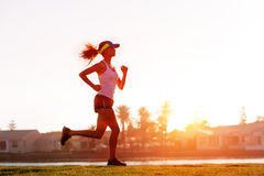 Healthy runner training Royalty Free Stock Photo