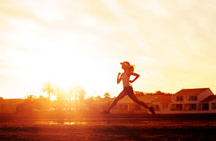 Healthy runner training Royalty Free Stock Photo