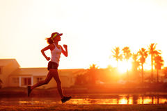 Healthy runner training Stock Photography