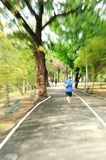 Healthy runner training motion blur Royalty Free Stock Photo