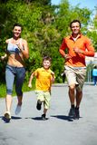 Healthy runners Stock Photography