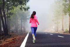 Healthy running runner woman workout Royalty Free Stock Image
