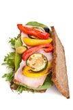 Healthy Rye Bread Sandwich Stock Photo