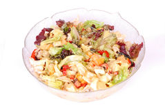 Salad on white Royalty Free Stock Photography