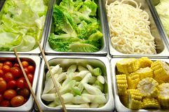 Healthy Salad Bar Royalty Free Stock Photography