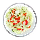 Healthy salad in the bowl isolated on the white Stock Photo