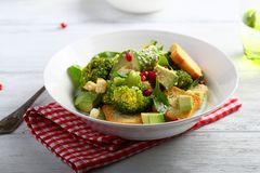 Healthy Salad with broccoli and avocado Royalty Free Stock Photo