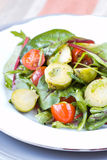 Healthy salad with brussels sprouts cabbage , tomatoes, salad Stock Images