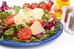 Healthy salad with cheese Stock Images